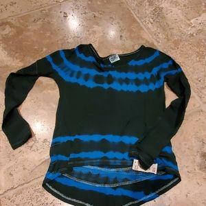 Erge Blue Tie Dye Shirt - Size 14/Large - NWT